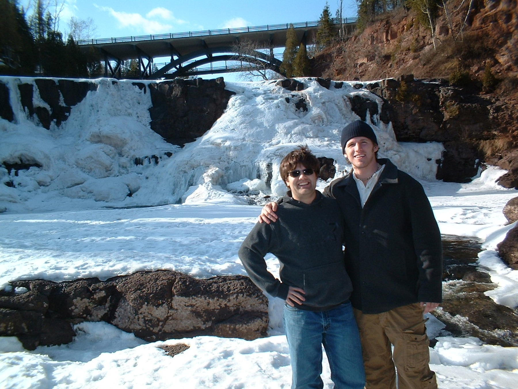 Andy and his roommate visit Gooseberry Falls just days before he falls ill.